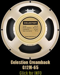 Click for full info and shot of the excellent Celestion G12M x 2 in Super 30 Cab