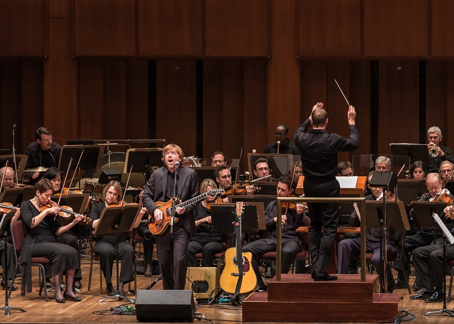 Trey Anastanio with his Swart ST-6V6se and the National Symphony Orchestra